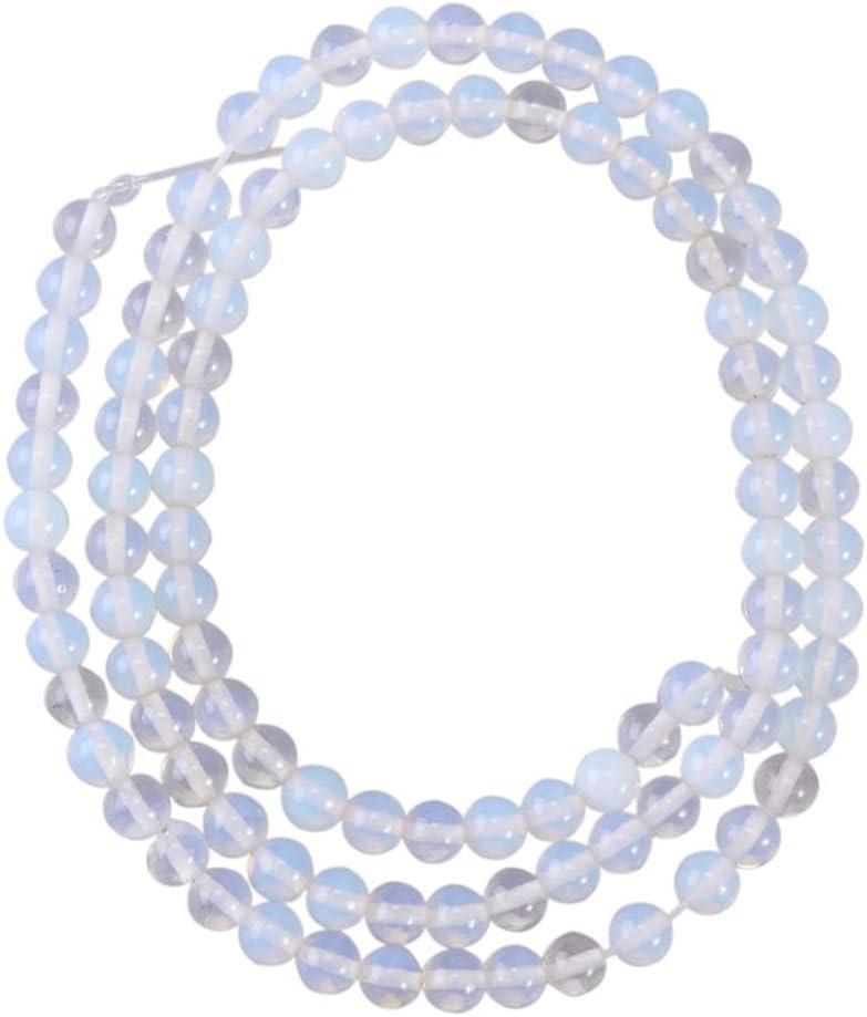 EXCEART Cuentas de piedras preciosas de 4 mm cuentas de cristal redondo cuentas sueltas cuentas de piedra natural diy pulsera collar accesorios