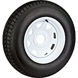 "2-Pack Trailer Tire On White Spoke Rim ST205/75D15 Load C (5 Lug On 5.5"") 15 x 5"
