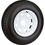 2-Pack Trailer Tire On Rim #5251 205/75D15 LRC 5 Bolt on 5'' Center White Spoke