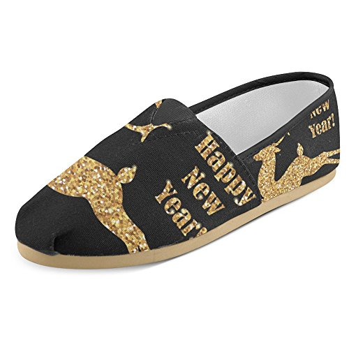 Interestprint Womens Loafers Klassiska Avslappnade Duk Slip På Mode Skor Gymnastikskor Lägenheter Multi 24