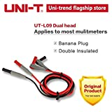 Generic UNI-T UT-L09 Dual head connecting wire double insulated banana plug with security mask and normal diameter multi occasion use