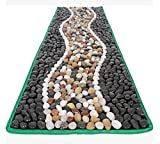 WE&ZHE Massage Mat Health Care Pad Bathroom Mat Kitchen Rug Foot Massage Leg Massage Garden Pave Way Natural Pebble Stones Mat(40 150 Cm)