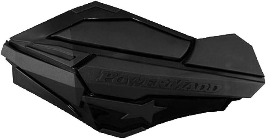 PowerMadd Sentinel Handguards with Tri-Mount Kit Black//Black