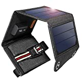 Suaoki 7W Solar Charger Portable Foldable with High Efficiency SunPower Solar Panels for iPhone 8 / 7S / Plus, Galaxy S8 / S7 / Edge/Plus, Note 8, LG, Nexus, Pixel and Other 5V USB Devices