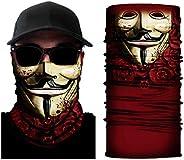 Alljoin Multifunctional Magic Scarf Outdoor Headwear Bandana Sports Tube UV Face Mask for Workout