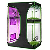 VIVOSUN 2-in-1 36'x24'x53' Mylar Reflective Grow Tent for Indoor Hydroponic Growing System