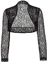 Belle Poque® Women's Long Sleeve Floral Lace Shrug Bolero Cardigan JS49