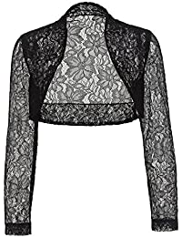 Belle Poque Women's Long Sleeve Floral Lace Shrug Bolero...
