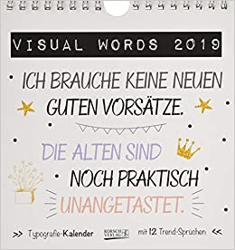 Visual Words Colour PK 235019 2019: Aufstellbarer Typo Art
