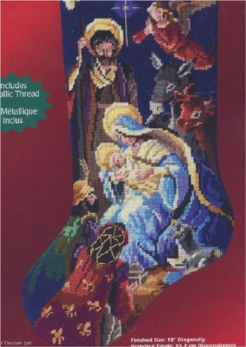 Janlynn Counted Needlepoint Christmas Stocking Kit #023-0...