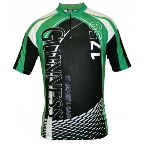 Guinness Cycling Jersey White,Green & Black XX-Large (Guinness Cycling Jersey compare prices)