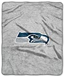 Seattle Seahawks Official NFL 14.5 inch x 7.5 inch xSweatshirt Blanket Script Design by Northwest Company 684287