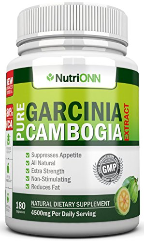 80% HCA PURE GARCINIA CAMBOGIA EXTRACT- 4500MG/Day - 180 Capsules - 3rd Party Tested!!! - 100% Natural Appetite Suppressant - Certified Super Strenght - ★WEIGHT LOSS GUARANTEED ★ FREE BONUS EBOOK! (Citrimax Plus 180 Capsules)