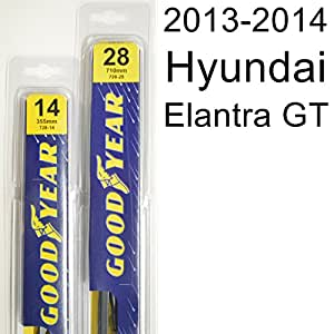 hyundai elantra gt 2013 2014 wiper blade kit set includes 28 driver side 14. Black Bedroom Furniture Sets. Home Design Ideas