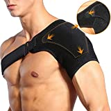 Shoulder Brace Adjustable Compression Shoulder Support for Dislocated AC Joint, Torn Rotator Cuff