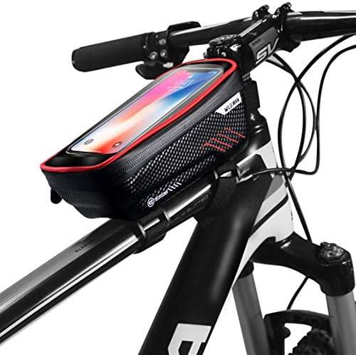 WILD MAN Hard Shell Touch Screen Phone Holder Type Bike Bag Waterproof for Road Mountain Cycling