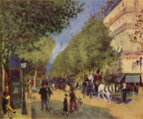 Home Comforts Peel-n-Stick Poster of Renoir, Pierre -Auguste - The Grand Boulevards Vivid Imagery Poster 24 x 16 Adhesive Sticker Poster Print