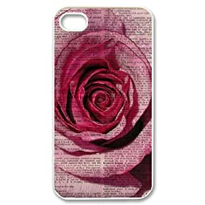 Vintage Flower Watercolor Original New Print DIY Phone Case for Iphone 4,4S,personalized case cover ygtg586907