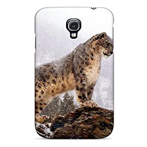 Galaxy S4 Case Bumper Tpu Skin Cover For Snow Leopard Sting On A Rock Accessories