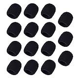 Mudder 15 Pack Microphone Windscreen Handheld Foam Cover, Black