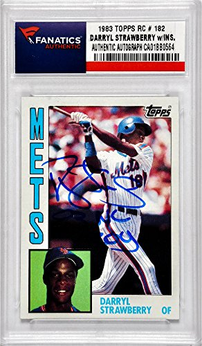 Darryl Strawberry New York Mets Autographed 1984 Topps #1...