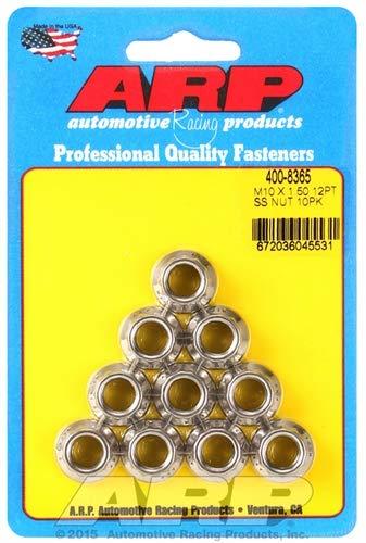 - ARP 400-8365 M10 X 1.50 SS M12 socket 12pt nut kit
