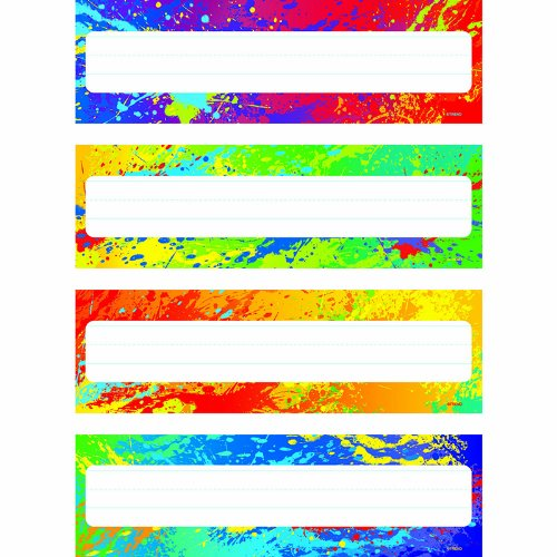 - TREND enterprises, Inc. Splashy Colors Desk Toppers Name Plates Var. Pk., 32 ct