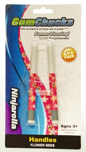 Gumchucks Floss Designer Handles, Flower (Flower Chucks)