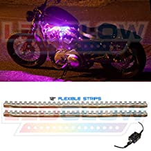 LEDGlow 2pc Pink LED Flexible Motorcycle Light Kit