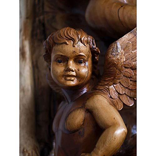 - Wee Blue Coo Photography Composition Angel Cherub Statue Sculpture Unframed Wall Art Print Poster Home Decor Premium