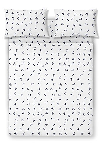 Brielle Fashion 100% Cotton Jersey Sheet Set, King, Anchor