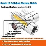 Shower Head Diverter Valve, 100% Solid Brass Shower Arm Diverter Valve for Hand Held Showerhead and Fixed Spray Head, G1/2 3-Way Bathroom Universal Shower System Replacement Part
