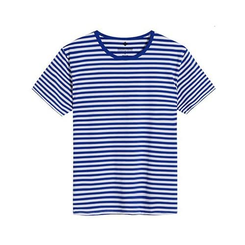 Pirate L'usure l'usure de l'été, des couples 2018 marée basse T-shirts, manches courtes pour femmes, confortable plage, rayures Marine, T-shirts.