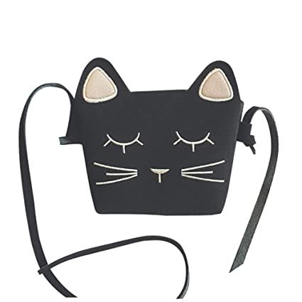 Amazon.com  Girls  Cute Kitty Purse Crossbody Shoulder Bags Hosamtel PU  Leather Cat Ear Bag (Black)  Hosamtel🍀Up to 20% discount🍀 18578b7f29e79