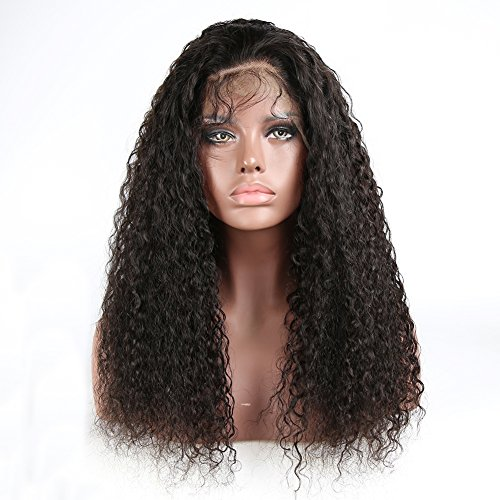 360 Lace Frontal 180% Density Brazilian Virgin Water Wavy Human Hair Wigs For Black Women With Baby Hair 14 inch ,Natural Color by hellothere