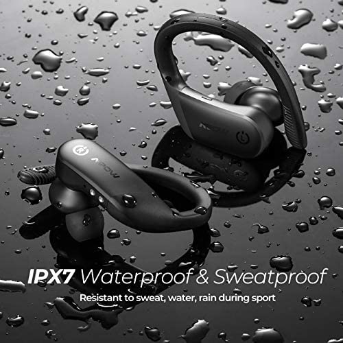 Wireless Earbuds Sport, Mpow Flame Lite in Ear Bluetooth Earbuds Sport, Bass+ IPX7 Waterproof Sport Earphones, BT5.0/Touch Control/Mono&Twin Mode/30H Playtime/USB-C Charging Case/Built-in Mics,Black