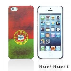 OnlineBestDigital - Vintage National Flag Hard Back Case for Apple iPhone 5S / Apple iPhone 5 - Portugal