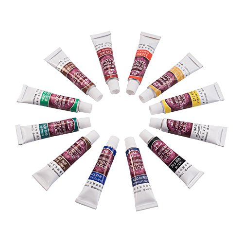 Face and Body Painting Set - Safe & Non-Toxic Art Make-up Set Kit - Great for Body and Face Painting (12 colors (Body Painting Tube)