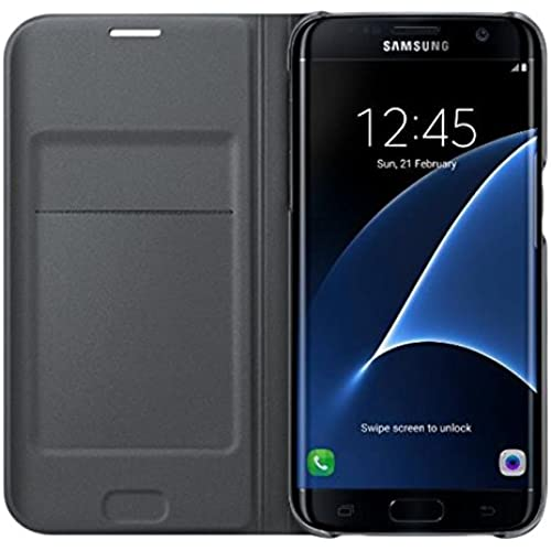 Genuine Samsung Flip Wallet Cover Case (EF-WG935PBEGWW) for Samsung Galaxy S7 edge (SM-G935) - Black Sales