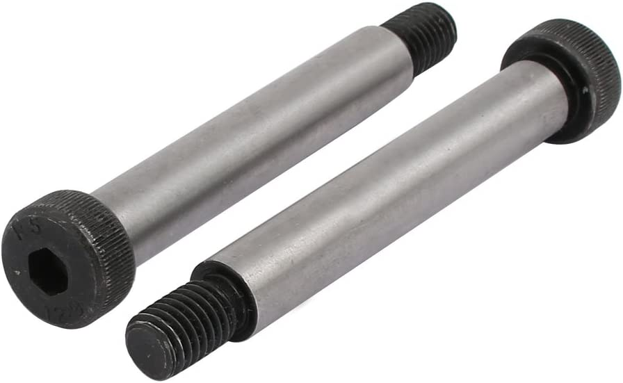 uxcell 5pcs 40Cr Steel Shoulder Bolt 12mm Shoulder Dia 75mm Shoulder Length M10x18mm Thread