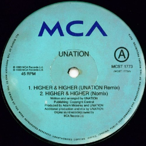 Higher And Higher   Unation 12