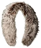 RUDSAK Women's Spiritwood Fur Collar Scarf with Clips, Silver, One Size
