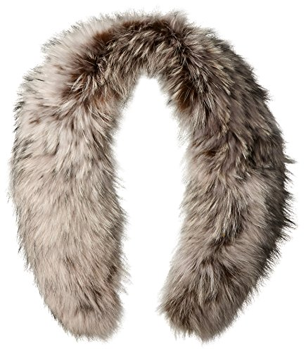 RUDSAK Women's Spiritwood Fur Collar Scarf with Clips, Silver, One Size by RUDSAK
