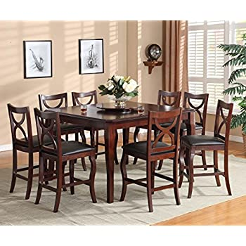 Amazon Com Mix Amp Match Counter Height Dining Table With