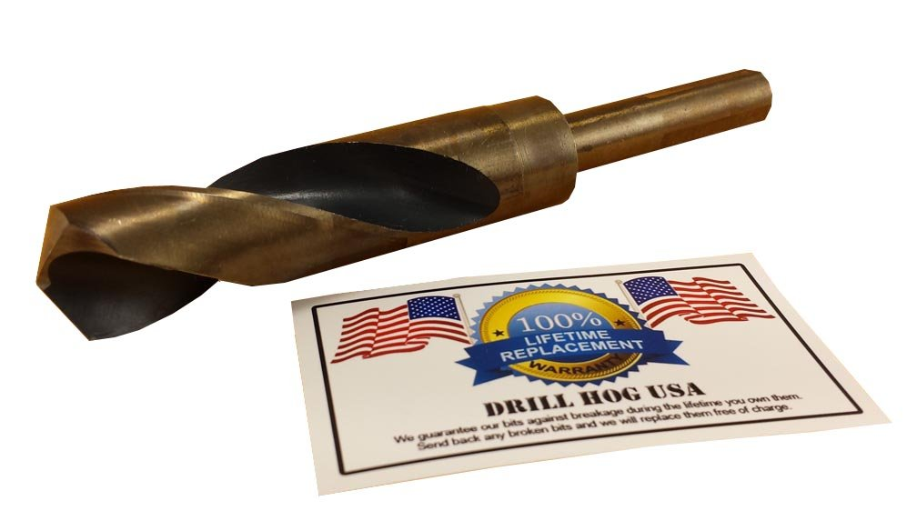 "Drill Hog USA 1/"" Drill Bit 1/"" Silver /& Deming Bit Cobalt HSS Lifetime Warranty"