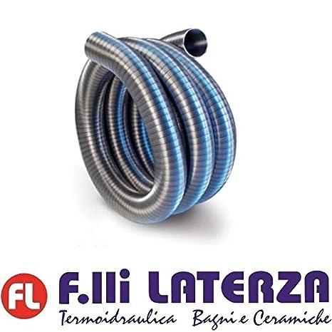 Tubo flexible acero inoxidable Diámetro 80 caña Caños Pellets Chimenea con interior liso: Amazon.es: Bricolaje y herramientas