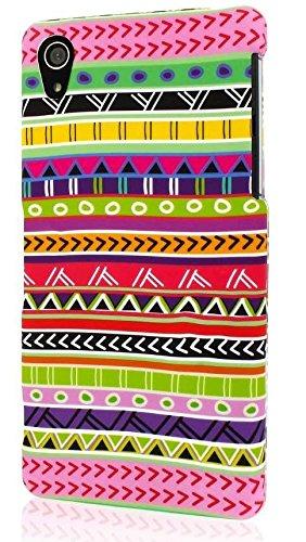 Sony Xperia Z2 Case, MPERO SNAPZ Series Rubberized Case for Sony Xperia Z2 - Aztec Fiesta