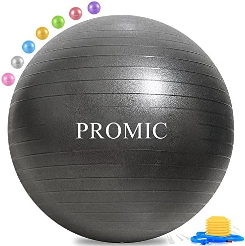 BODYMATE Anti-burst Exercise Ball Gym-quality Swiss ball for fitness pregnancy /& birth and sizes Includes Ebook and air pump