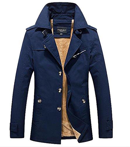 waxed trench coat - 6