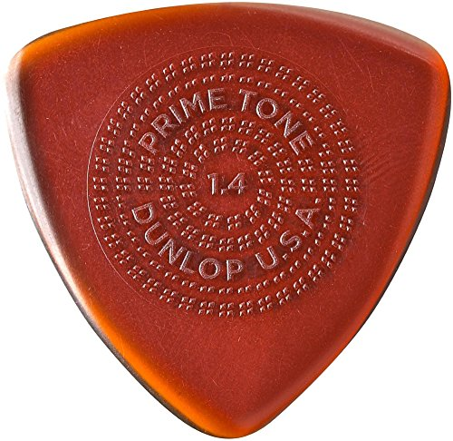 Dunlop Primetone Triangle Sculpted Plectra with Grip 3-Pack 1.4 (Dunlop Triangle)